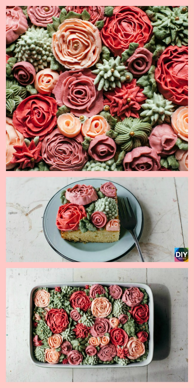 diy4ever-Amazing DIY Rose Cake Tutorial