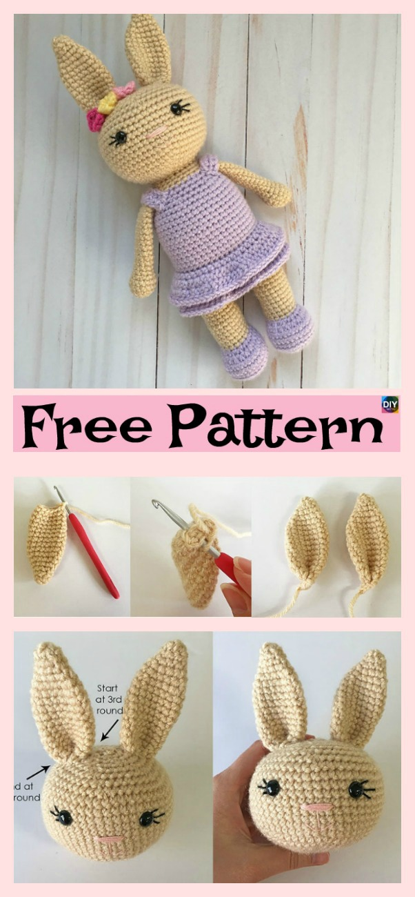 Beautiful Crochet Bunny - Free Pattern