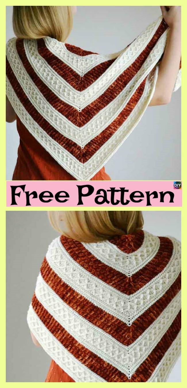 diy4ever-Beautiful Crochet mindfulness Shawl