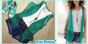 diy4ever Beautiful Crocheted Summer Vest Free Pattern F 300x150 - 15 Most Beautiful Crochet Crop Top  Free Patterns
