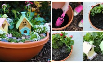 diy4ever- Beautiful DIY Kids Fairy Garden - Free Tutorial