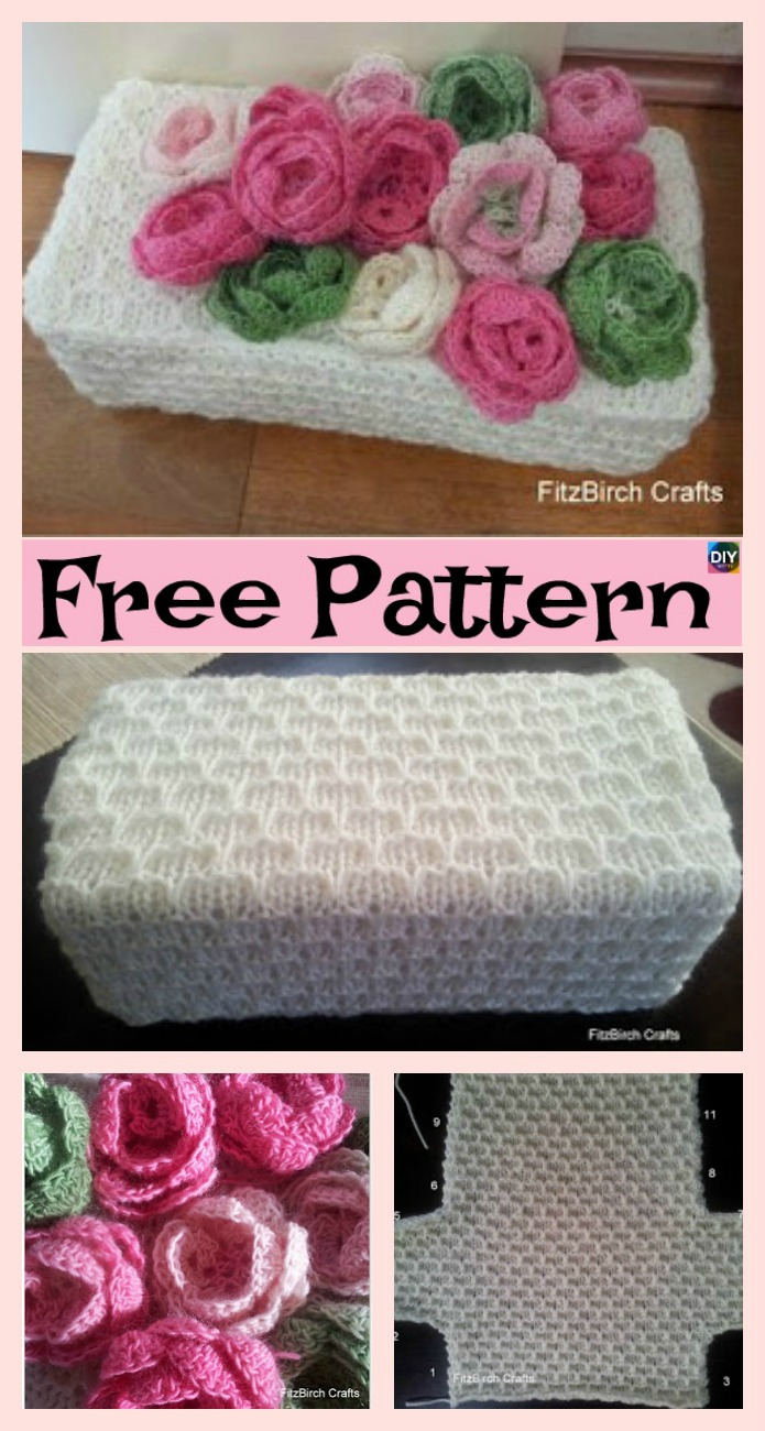 diy4ever-Beautiful Knit Rose Capelet - Free Pattern