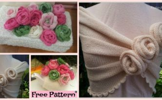 diy4ever Beautiful Knit Rose projects Free Pattern F 332x205 - Beautiful Knit Rose Capelet - Free Pattern