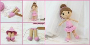 diy4ever-Crochet Ballerina Doll Amigurumi - Free Pattern