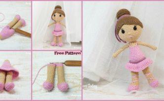 diy4ever-Crochet Ballerina Doll Amigurumi - Free Pattern
