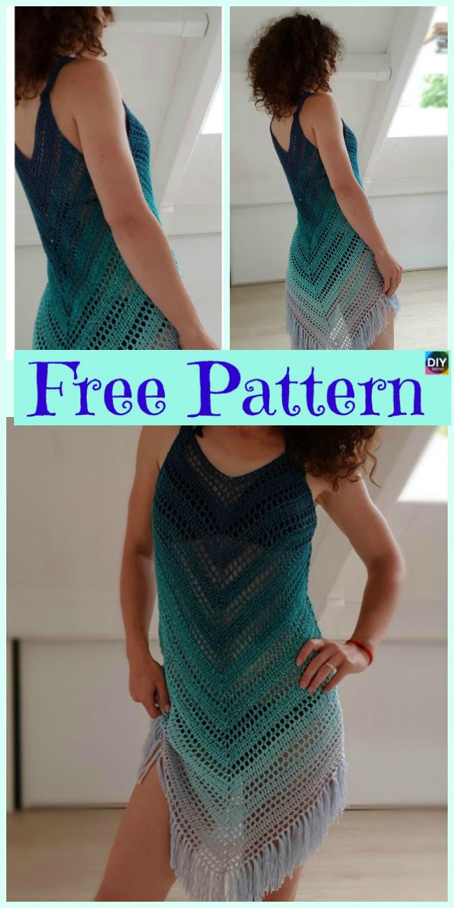 diy4ever-Crochet Beach Dress Cover - Free Patterns