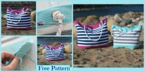 diy4ever-Crochet Classic Beach Bag - Free Pattern