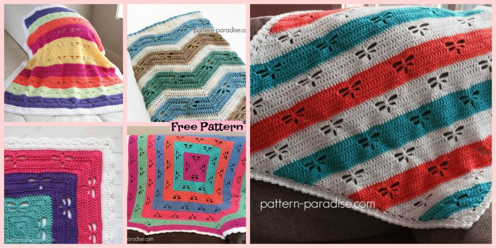 Crochet Dragonfly Stitch Blanket Free Patterns Diy 4 Ever