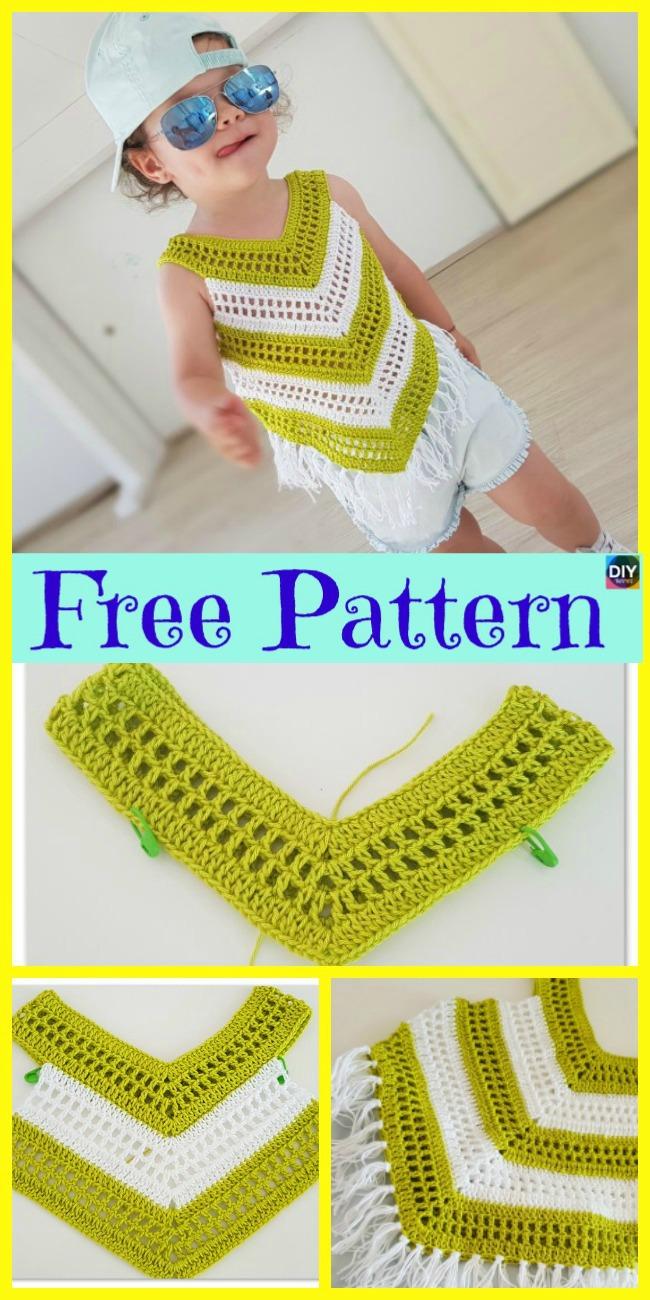 diy4ever-Crochet Little Girl Summer Top - Free Pattern
