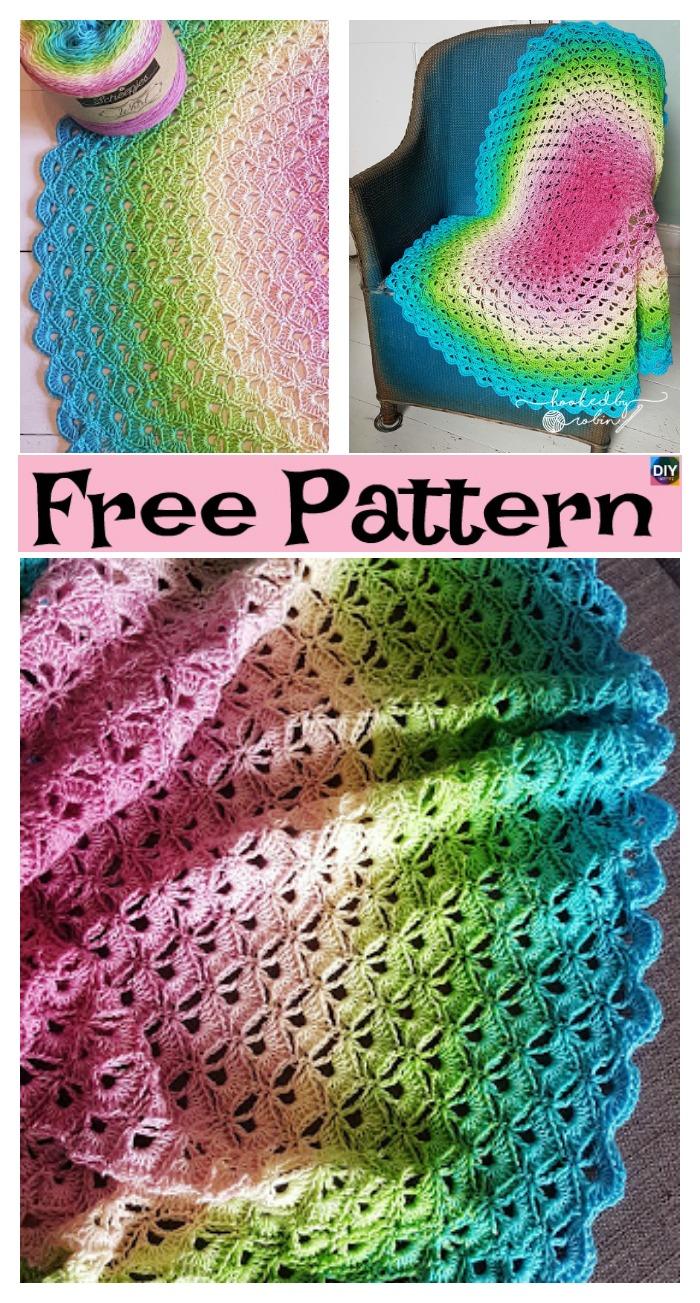 diy4ever- Crochet Lotus Flower Blanket - Free Pattern