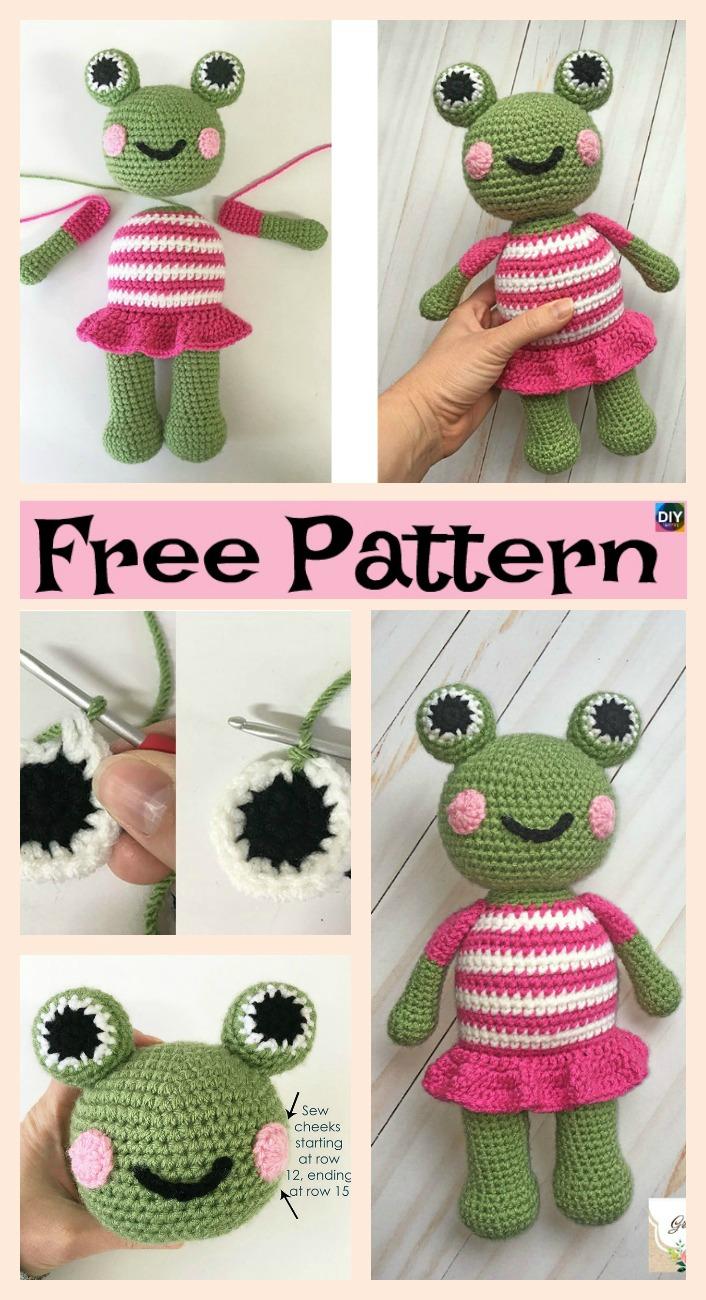 diy4ever-Cute Crochet Amigurumi Frog - Free Patterns