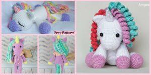 diy4ever Cute Crochet Unicorn Amigurumi Free Patterns F 300x150 - Beautiful Crochet Unicorn Girl - Free Pattern
