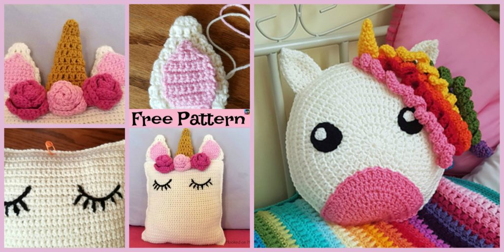 Cute Crochet Unicorn Pillow Free Patterns Diy 4 Ever