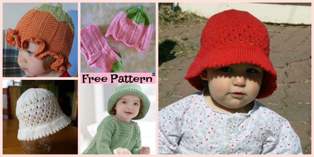 Cute Knitted Baby Sun Hat Free Patterns Diy 4 Ever