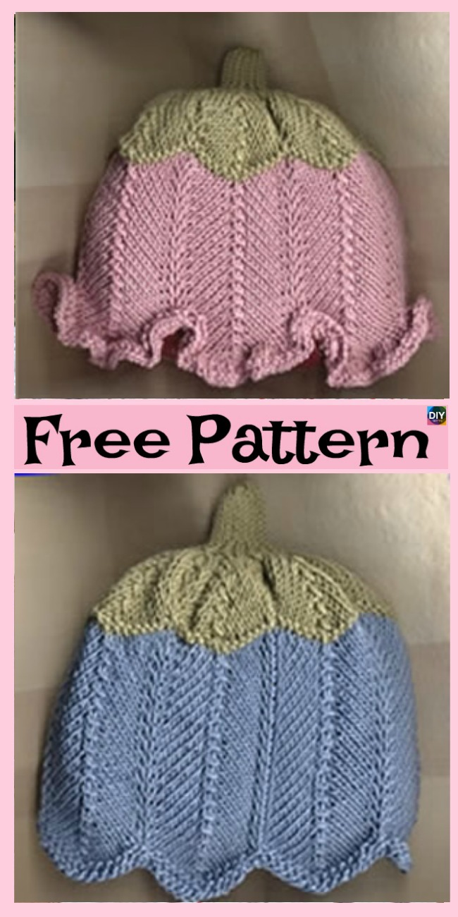 diy4ever- Cute Knitted Baby Sun Hat - Free Patterns