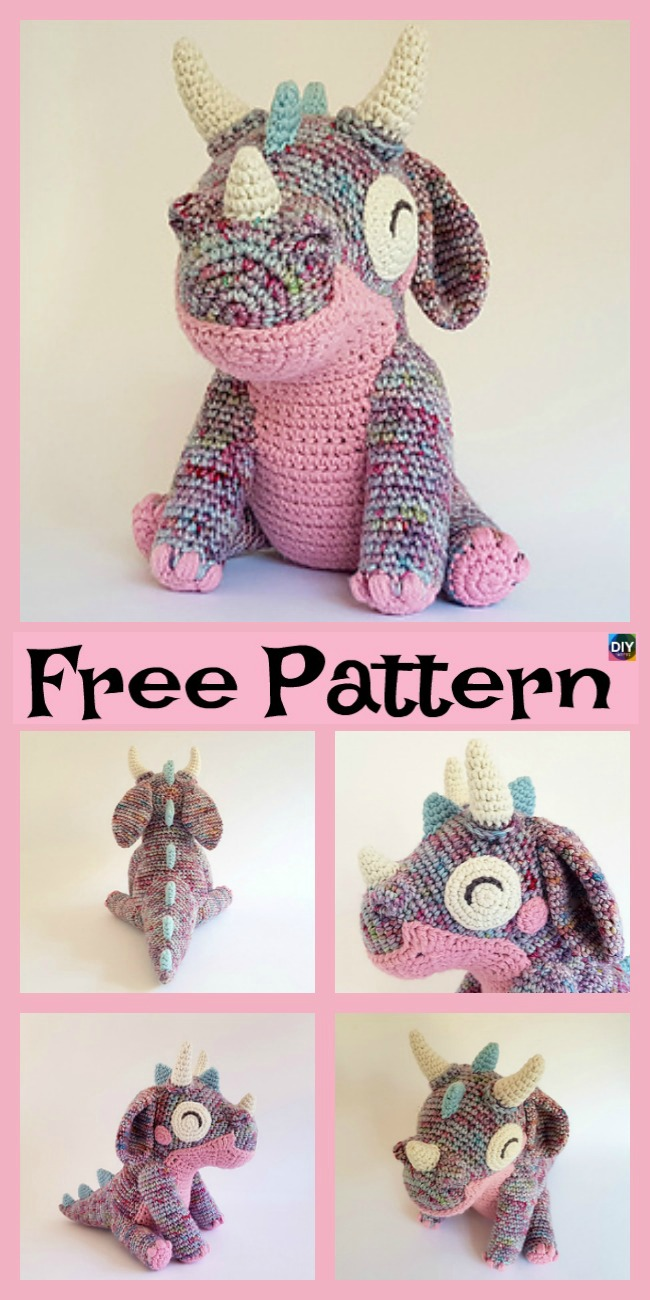 diy4ever-Cute Little Crochet Orbit Dragon - Free Pattern