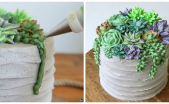 diy4ever DIY Buttercream Succulent Cake Step by Step F 332x205 - How to DIY Buttercream Succulent Cake - Step by Step