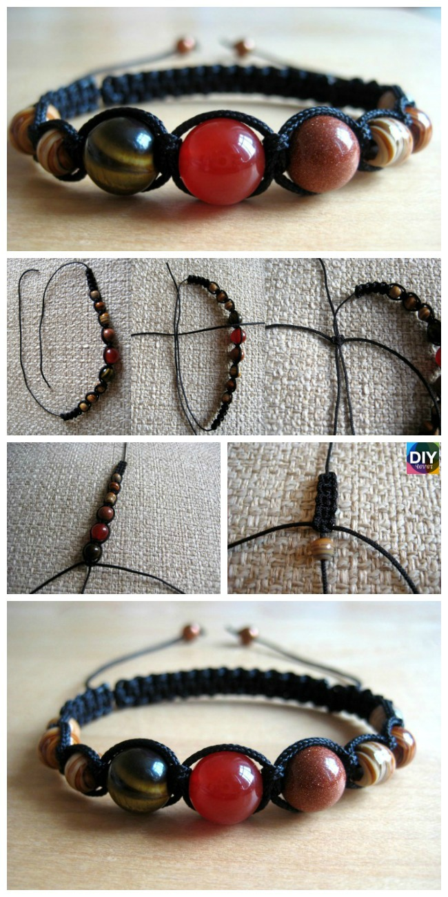 diy4ever-DIY Shamballa Bracelet Tutorial - Step by Step