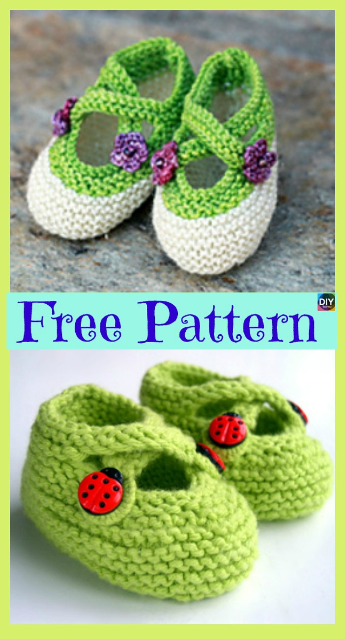 diy4ever-Knitted Adorable Baby Booties - Free Pattern F