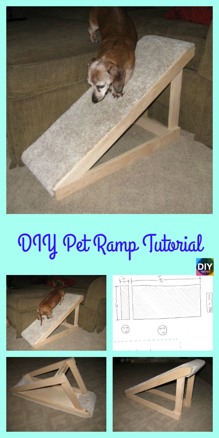 diy4ever- Quick DIY Pet Ramp Tutorial