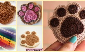 diy4ever- Super Cute Crochet Paw Print - Free Patterns
