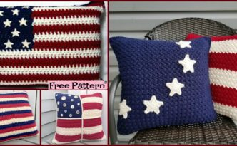 diy4ever-Unique Crochet Americana Pillow - Free Patterns