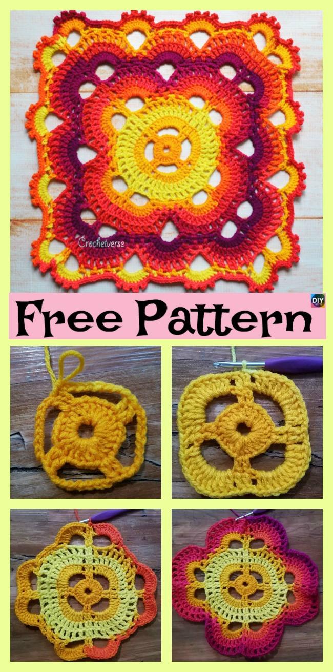 diy4ever-Wonderful Crochet Virus Blanket - Free Pattern