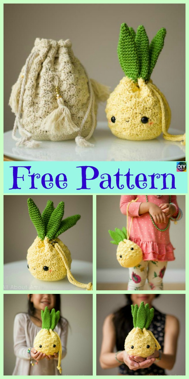 Crochet Amigurumi Pineapple Design - Free Patterns