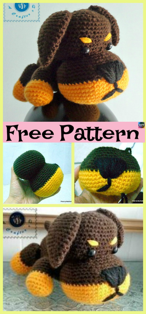 diy4ever- Adorable Crochet Little Puppy - Free Pattern