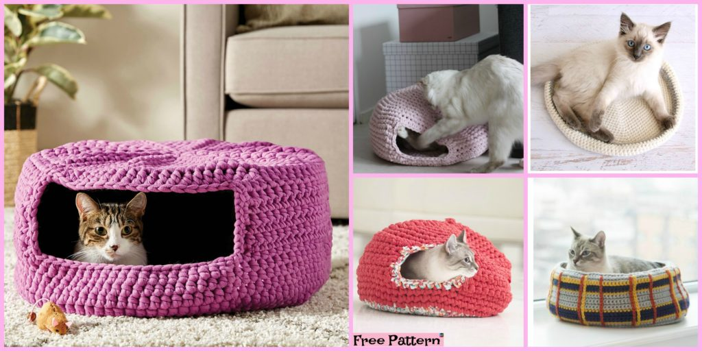 10 Awesome Crochet Cat Bed Free Patterns Diy 4 Ever