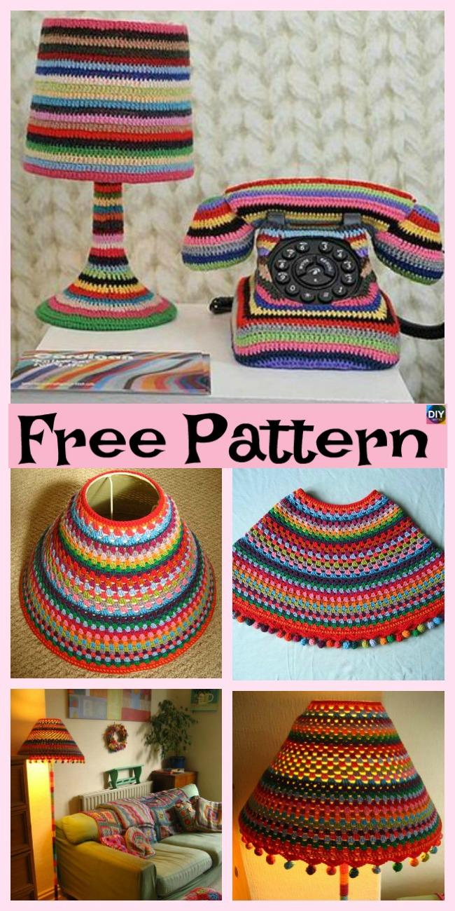 diy4ever-10+ Beautiful Crochet Lampshade - Free Pattern