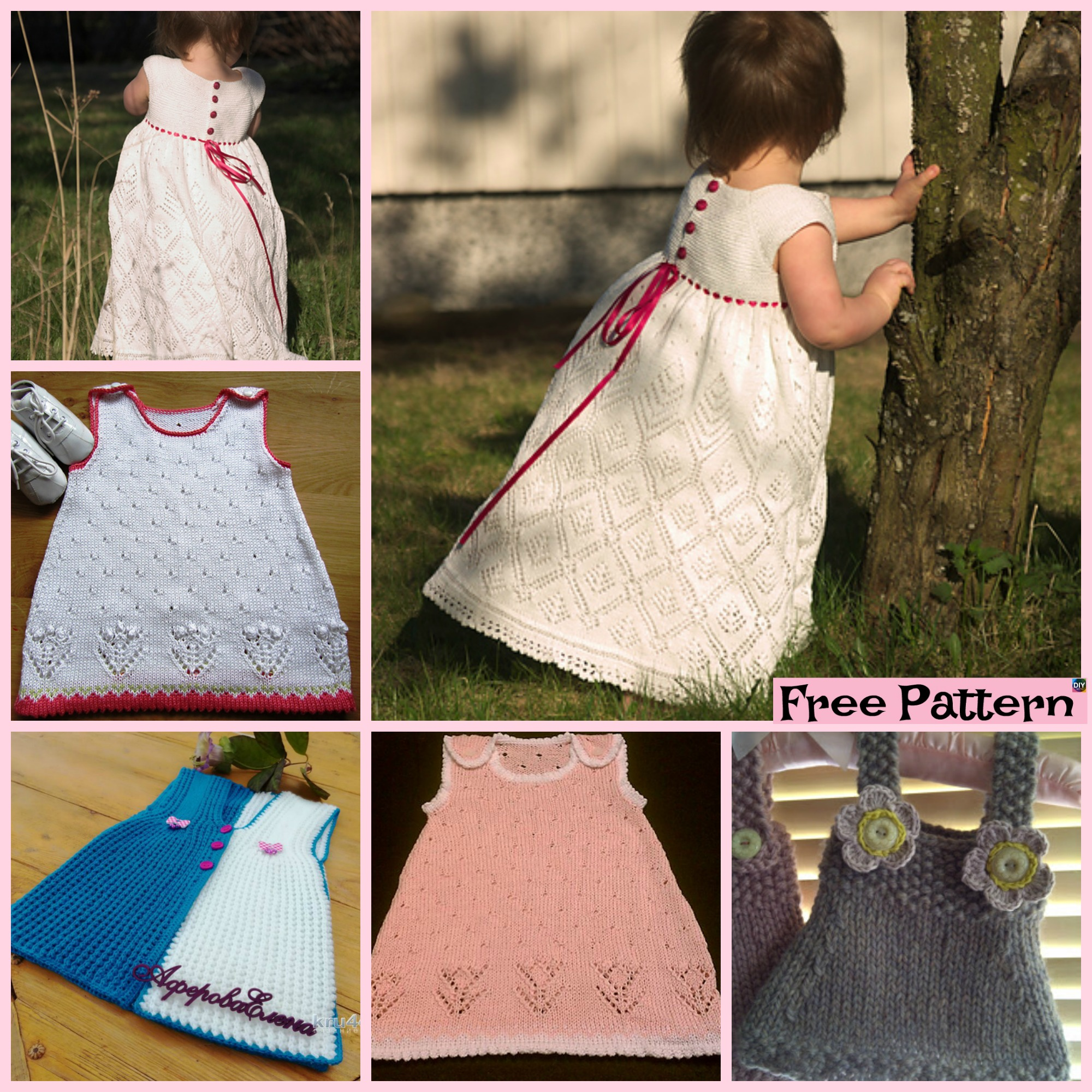 10 Most Unique Knitting Baby Dress - Free Patterns - DIY 4 EVER