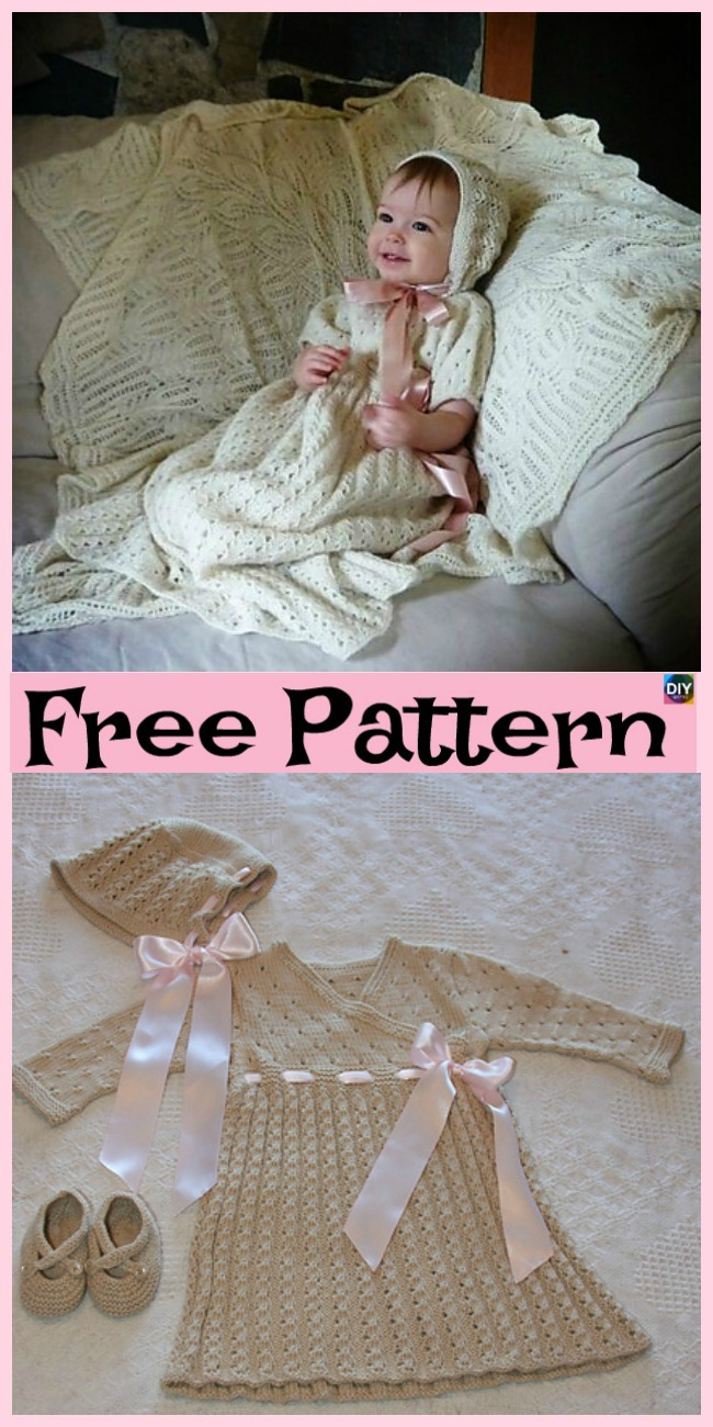 diy4ever- 10 Most Unique Knitting Baby Dress - Free Patterns