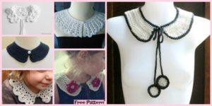 diy4ever 12 Pretty Crochet Simple Collar Free Patterns F1 300x150 - Cute Crochet Llama Hat - Free Pattern