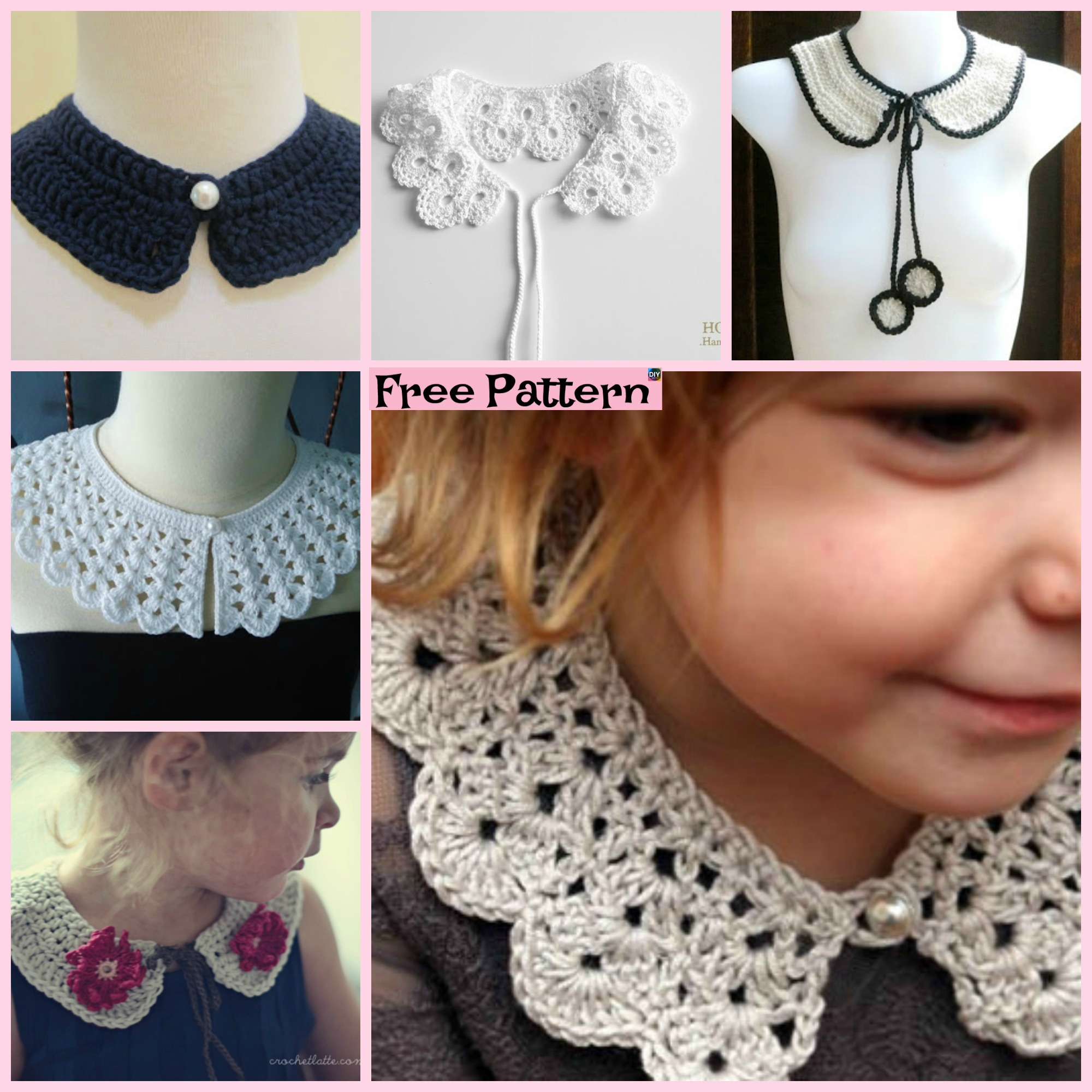 diy4ever-12 Pretty Crochet Simple Collar Free Patterns