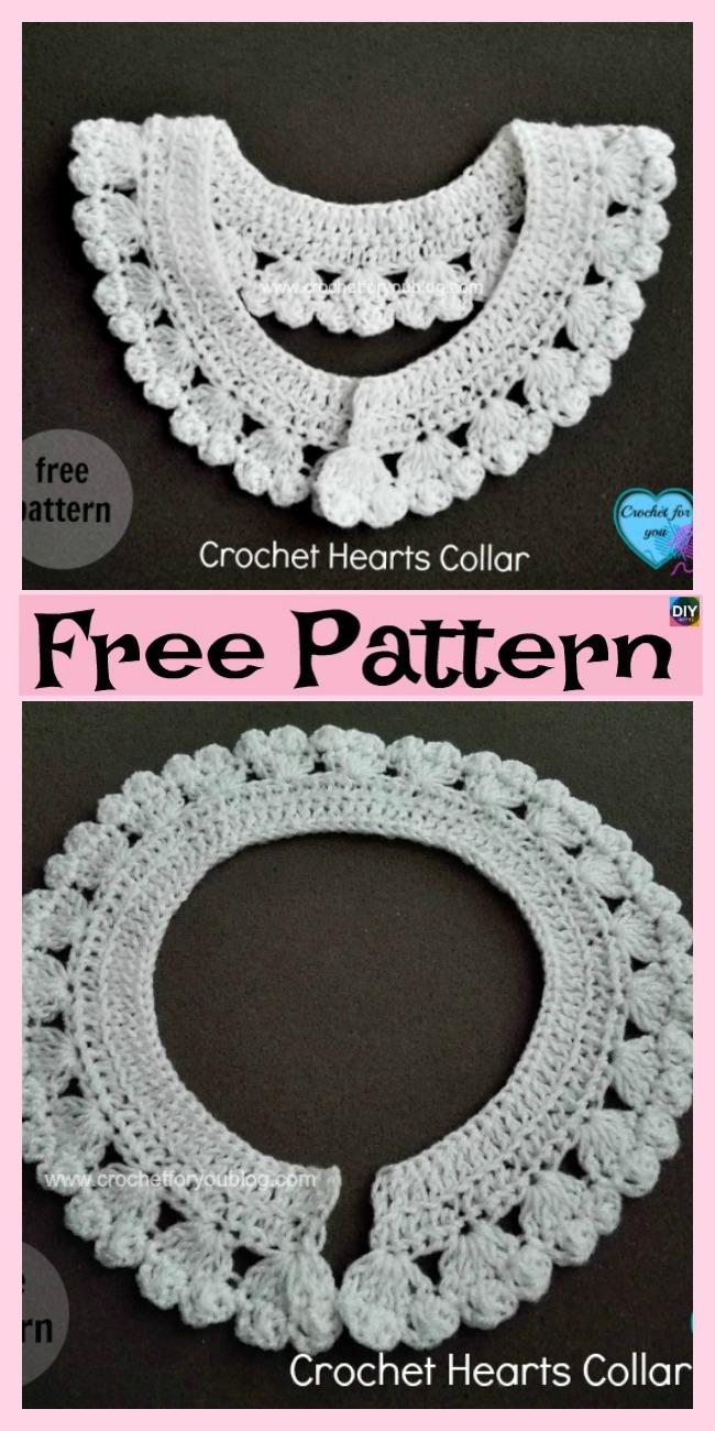12 Pretty Crochet Simple Collar Free Patterns Diy 4 Ever