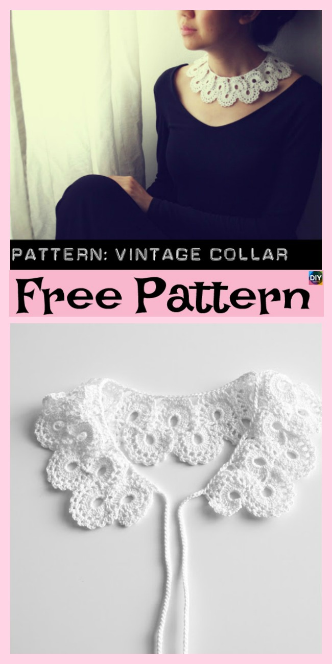 12 Pretty Crochet Simple Collar Free Patterns - DIY 4 EVER
