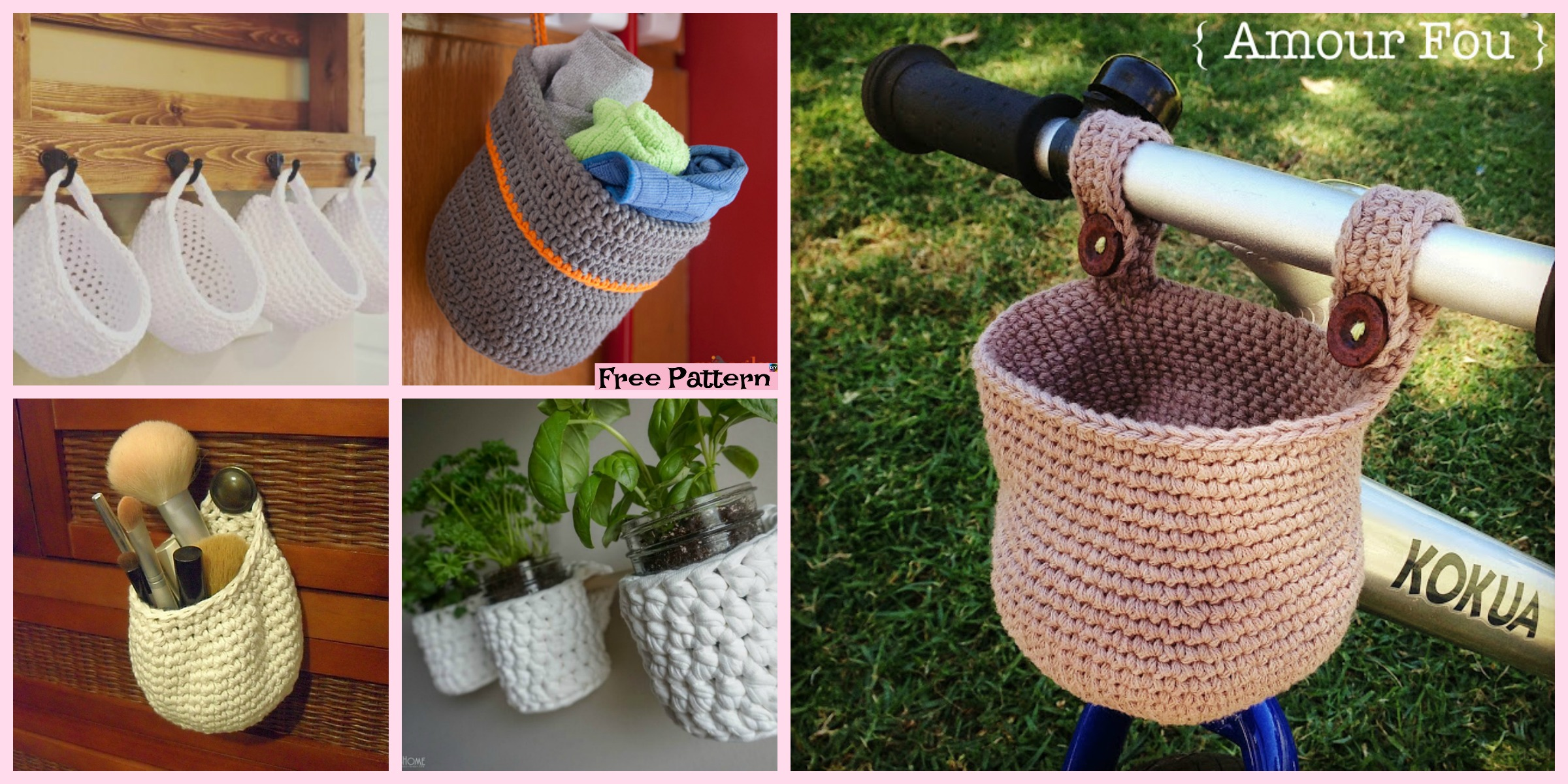 diy4ever- 15 useful Crochet Hanging Basket - Free Patterns