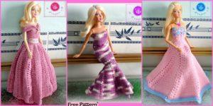 diy4ever 6 Pretty Crochet Doll Dress Free Patterns F 300x150 - Beautiful Crochet Unicorn Girl - Free Pattern