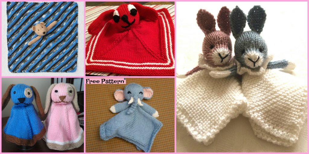 8 Adorable Knit Animal Lovey Free Patterns Diy 4 Ever