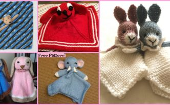 diy4ever 8 Adorable Knit Animal Lovey Free Patterns F 332x205 - 8 Adorable Knit Animal Lovey Free Patterns
