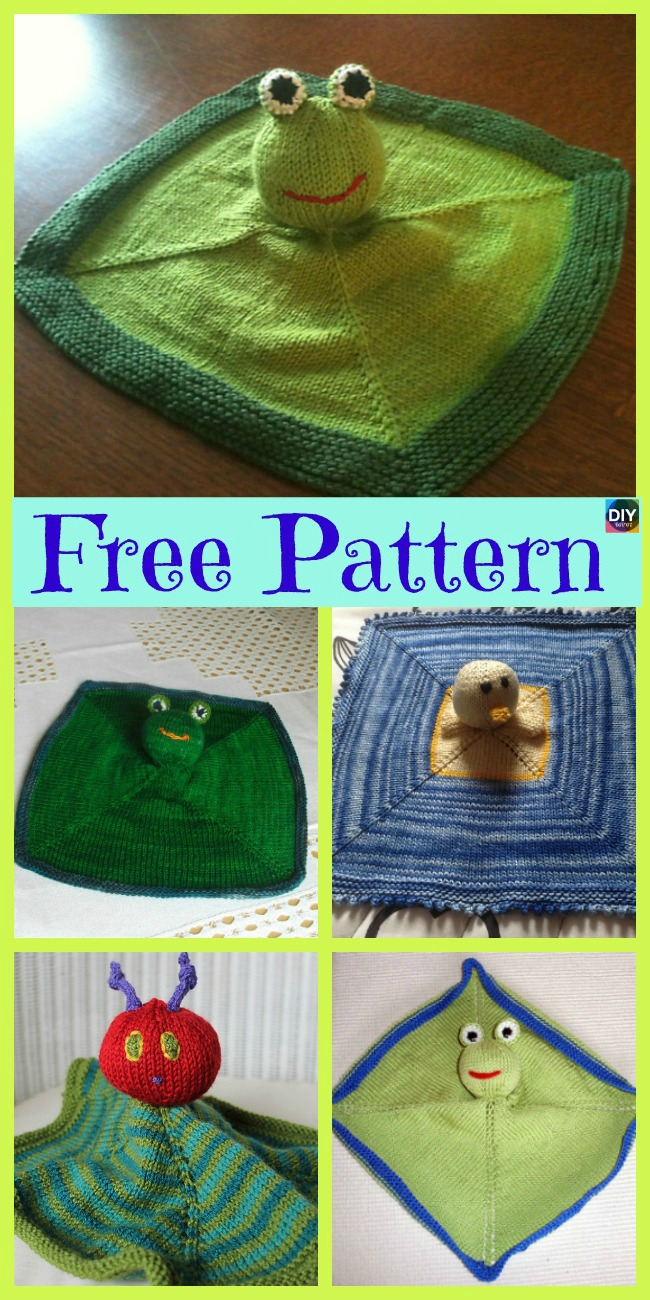 diy4ever- 8 Adorable Knit Animal Lovey Free Patterns