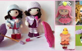diy4ever- 8 Cuest Crochet Doll Amigurumi Free Patterns
