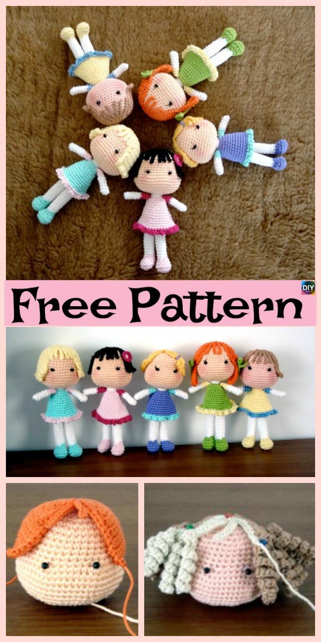 diy4ever-Adorable Crochet Amigurumi Doll - Free Pattern
