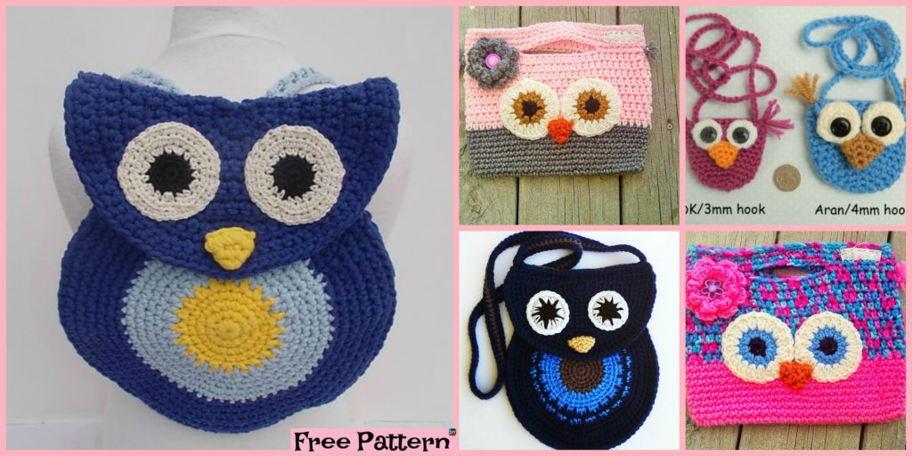 Adorable Crochet Owl Bag Free Patterns Diy 4 Ever