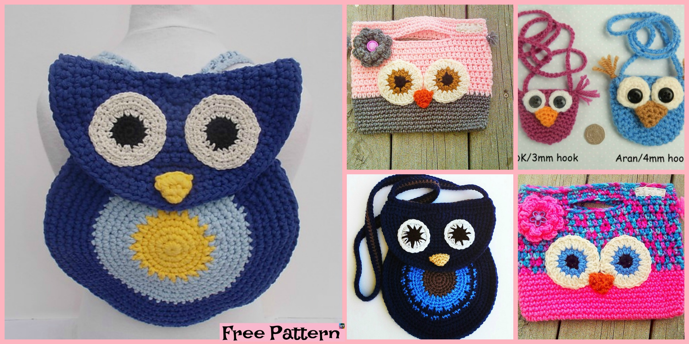 diy4ever Adorable Crochet Owl Bag Free Patterns F - 10 Pretty Crocheted Tote Bags - Free Patterns