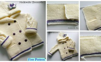 diy4ever-Adorable Knit Butterfly Jacket - Free Pattern