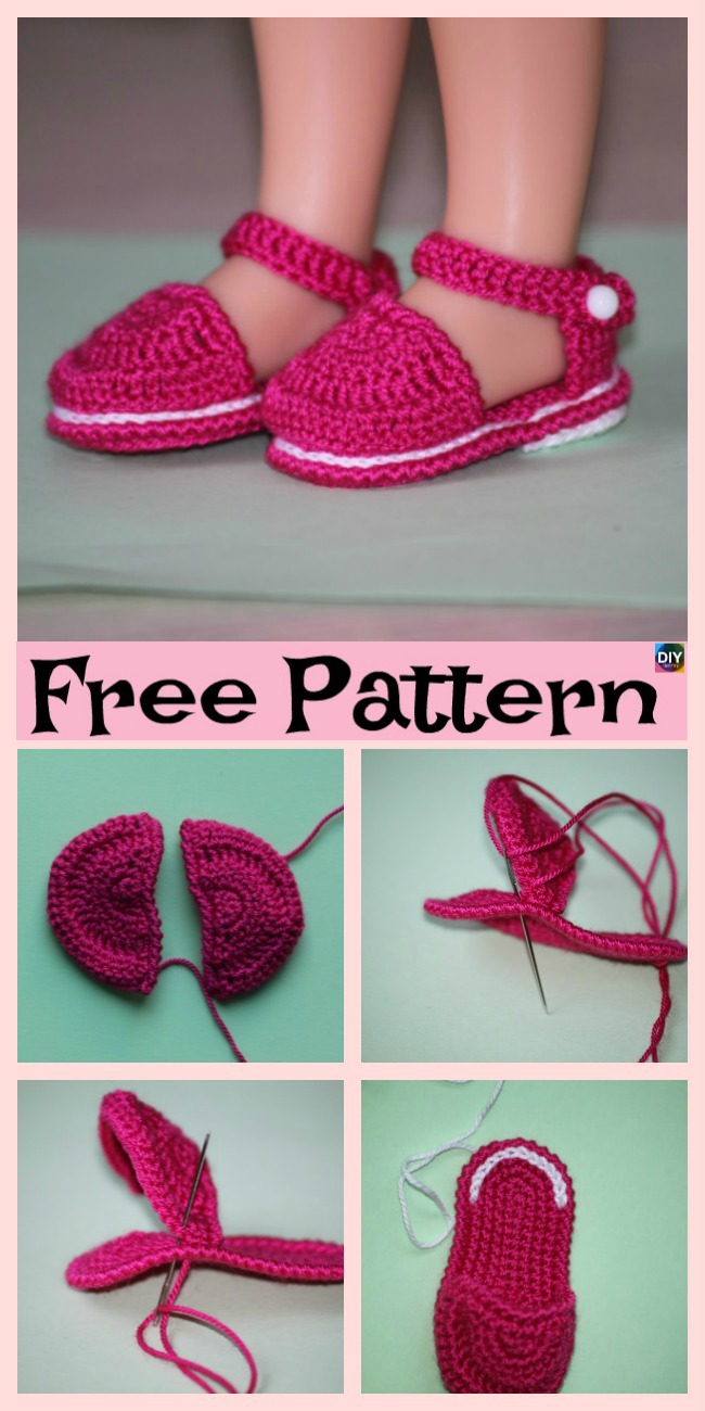 diy4ever-Adorable Knit Doll's Booties - Free Pattern
