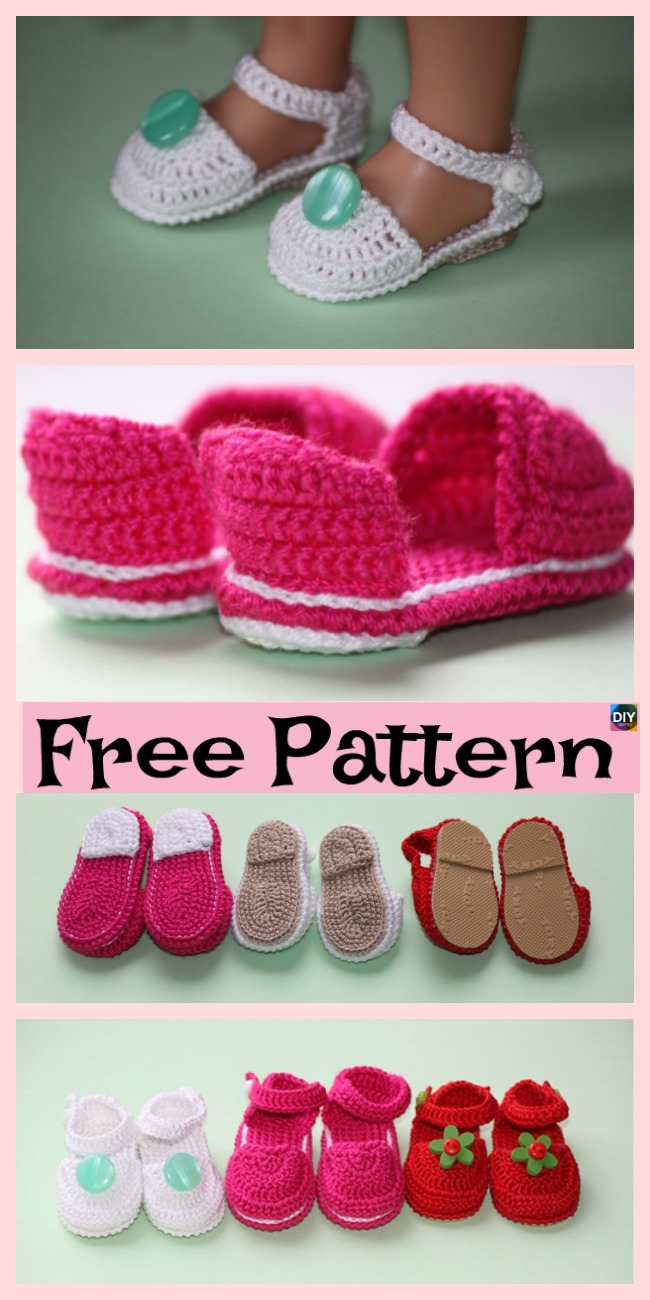 diy4ever -Adorable Knit Doll's Booties - Free Pattern