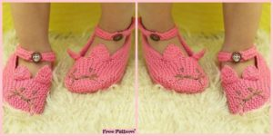 diy4ever Adorable Knit Kitty Slippers Free Patterns F 300x150 - 10 Knitted Cozy Slippers Free Patterns